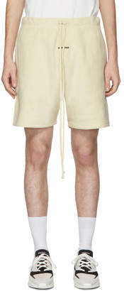 Essentials Off-White Polar Fleece Shorts