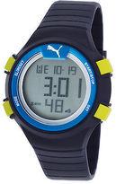 Puma PU911291002 Men's Optical Cardiac Digital Black Silicone Grey Dial and