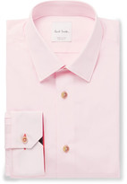 Paul Smith Pink Soho Slim-Fit Cotton-Poplin Shirt