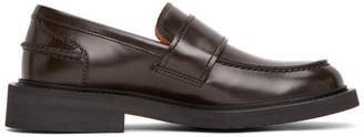 Bottega Veneta Brown Rubber Sole Loafers