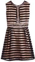 Bardot Junior Girls' Velour-Striped Dress
