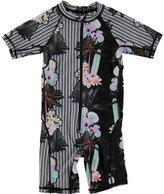 Molo Neka Printed Short Wetsuit, Black, Size 9M-4T