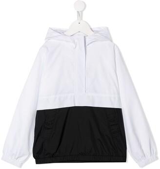 Karl Lagerfeld Paris hooded contrast windbreaker jacket