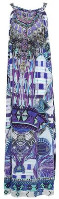 Camilla Zebra Crossing Crystal-embellished Printed Silk Crepe De Chine Maxi Dress