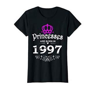 Womens Princesses Are Born In 1997 T-shirt 22nd Birthday Gift Girl