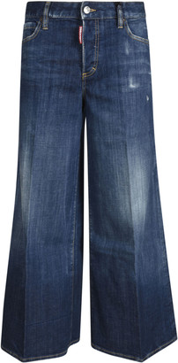DSQUARED2 Wide Flare Leg Jeans
