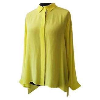 Dagmar Yellow Silk Top for Women