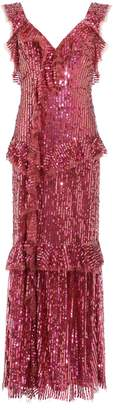 Needle & Thread Sequined Ruffle Gown
