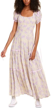 LoveShackFancy Jessie Silk-Blend Maxi Dress