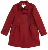 Burberry Girl's 'Coraline' Double Breasted Wool Blend Coat