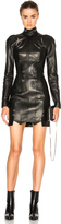 Thierry Mugler Leather Piercing Mini Dress