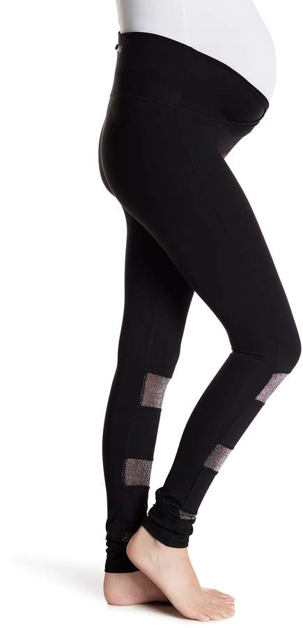 Electric Yoga Glitter Mesh Panel Legging (Maternity)