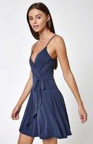 La Hearts Cupro Wrap Dress