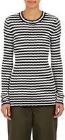 Proenza Schouler Women's Irregular-Striped Silk and Cashmere Sweater-WHITE