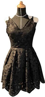 Lm Lulu Black Cotton Dress for Women