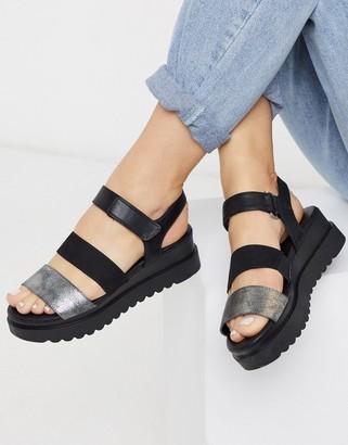 Call it SPRING yboreni flatform sandals in pewter