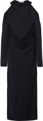Jil Sander Cold-shoulder Draped Wool And Cashmere-blend Gown