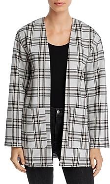Bagatelle Plaid Open-Front Cardigan Jacket