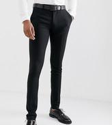 Asos Design DESIGN Tall super skinny smart trousers in black