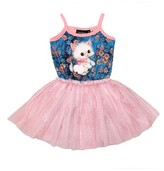 Rock Your Baby Toddler Girl's Retro Kitten Circus Dress