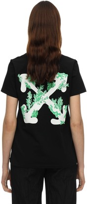 Off-White Coral Printed Cotton T-Shirt
