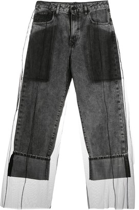 Diesel Black Gold Layered Tulle Jeans
