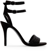 MANGO TOUCH - Crystals suede sandal