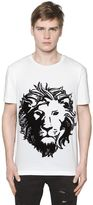 Versus Lion Embroidered Jersey T-Shirt