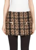 Balmain Wool Tweed Mini Skirt