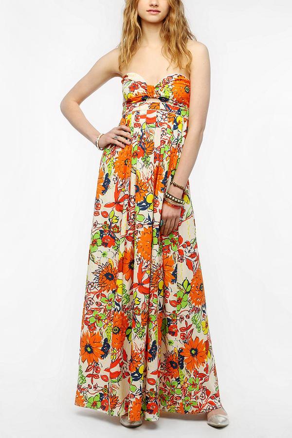 Sparkle & Fade Cutout Front Floral Maxi Dress