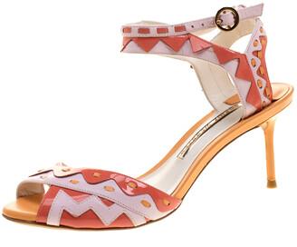 Sophia Webster Multicolor Patent Leather Ankle Straps Sandals Size 36.5