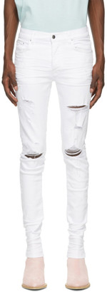 Amiri White Thrasher Plus Jeans