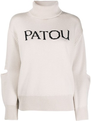 Patou Oversized Cut-Out Logo Jumper