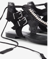 Express Braided T-strap Sandals
