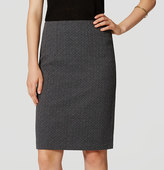 LOFT Diamond Pull On Pencil Skirt