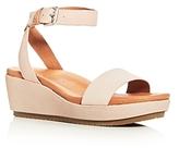 Gentle Souls Morrie Nubuck Leather Ankle Strap Platform Wedge Sandals