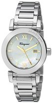 "Salvatore Ferragamo Women's FP1970014 ""Salvatore"" Silver-Tone Diamond-Accented Watch with Link Bracelet"