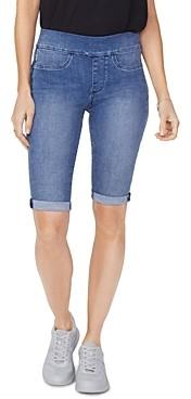 NYDJ Cuffed Pull On Jean Shorts in Clean Brickell