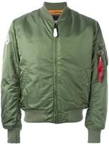 Alpha Industries zipped arm bomber jacket