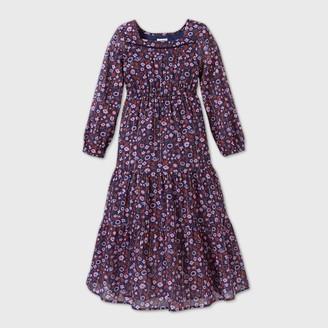 Cat & Jack Girls' Floral Shine Maxi Dress - Cat & JackTM