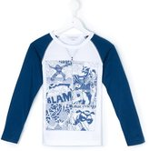 Little Marc Jacobs superheroes print T-shirt
