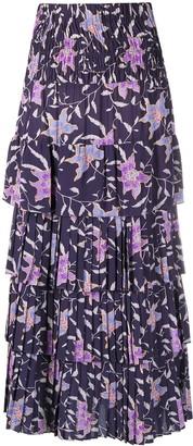 Etoile Isabel Marant Floral Print Pleated Skirt