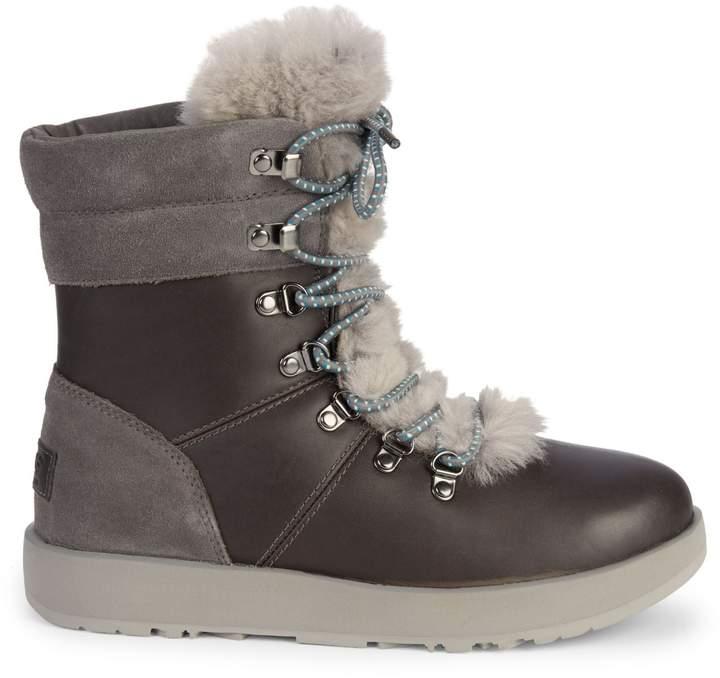 90ec6a5b756 Viki Waterproof Shearling & Leather Boots