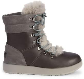 UGG Viki Waterproof Shearling & Leather Boots