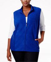 Karen Scott Plus Size Zeroproof Fleece Vest, Only at Macy's