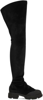 50mm Velvet Over The Knee Boots
