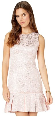 Lilly Pulitzer Abree Dress (Prosecco Pink Lagoon Jacquard) Women's Clothing