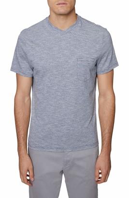 Hickey Freeman Men's Short Sleeve Pima Cotton V Neck Pocket T-Shirt