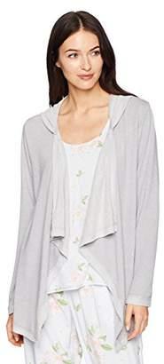 Mae Amazon Brand Women's Loungewear Drape Front Hooded Cardigan