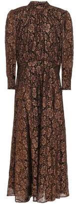 Just Cavalli Metallic Lace Midi Dress